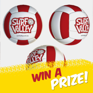 Surfvolley ball RED FA